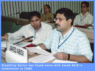 Picture of Javed Abidi at CABE