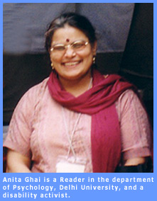 Picture of Anita Ghai, Reader in department of Psychology, Delhi University