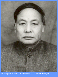Picture of Manipur Chief Minister O. Ibobi Singh.