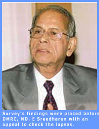 Picture of D.M.R.C. Managing Director T Sreedharan.