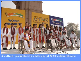 Picture of cultural presentation at WDD celeberations
