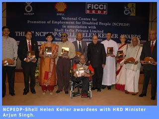 Picture of NCPEDP Shell Helen Keller Awardee
