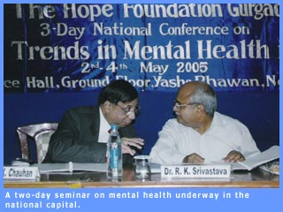 Picture of panelists at mental health seminar