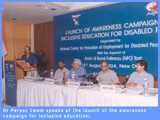 The launch of the inclusive education campaign.