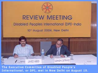 Picture of Executive Committee meeting of Disabled People's International.