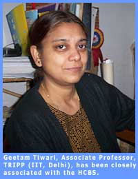 Picture of Geetam Tiwari, Associate Professor, T.R.I.P.P. (in I.I.T., Delhi).