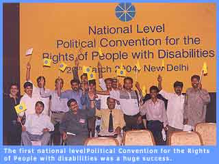 Picture of some of the participants of the national level political convention organised in Delhi