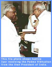 Picture of Justice V.R. Krishna Iyer
