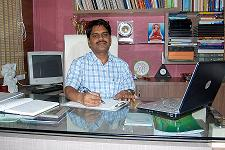 Dr D K Chopade at his office in Nashik