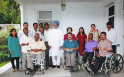 Dr. Manmohan Singh with N.C.R.P.D. delegation