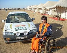 Deepa Malik at the Desert Storm Rally