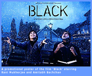 A promotional poster of the film 'Black'.