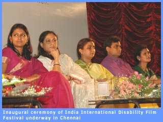 Picture of inagural ceremony of the disability film festival