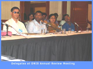 Rama Chari addressing D.N.I.S. Anual Review Meeting
