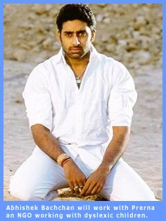 Abhishek Bachchan will workwith prerna, an NGO working with dyslexic children