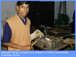 Picture of Ramesh being trained at TLM