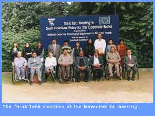 Picture of Think Tank memebrs at the November 24, 2003, meeting