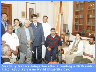 Picture of disability leaders delegation with the President