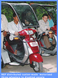 Picture of motorised three-wheelers presented by RGF