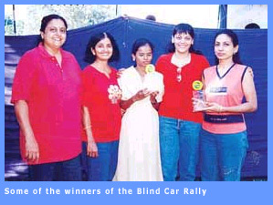 Winners of the Blind Rally held at Chennai.