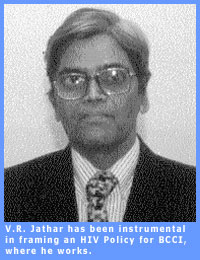 Picture of V.R. Jathar, who has helped frame an H.I.V. Policy for BCCI
