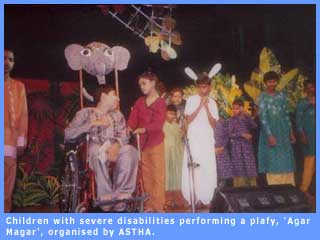 Over 45 severely disabled children took part in the play.