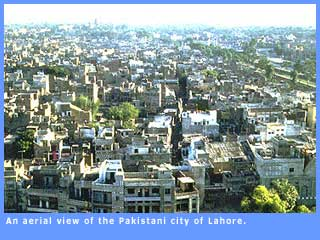 Picture of an aerial view of LAhore