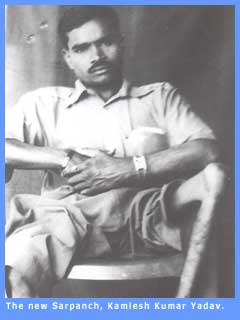 The victoriuos Sarpanch, Kamlesh Kumar Yadav.