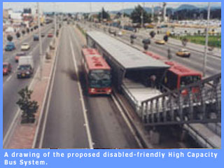 Picture of the proposed roadways for the disabled-friendly High Capacity Bus System