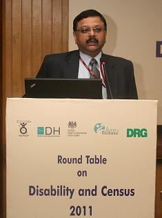 Dr. C. Chandramouli at the Round Table on Disability and Census 2011