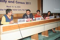 Javed Abidi and Census Commissioner, Dr. C. Chandramouli